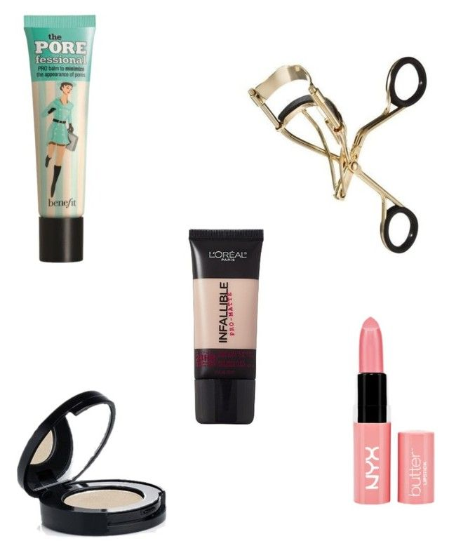 """""""Top 5 fave makeup products xx"""" by foreverhipsterxx ❤ liked on Polyvore featuring beauty, Benefit and NYX"""