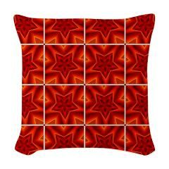 Red Christmas Pattern Woven Throw Pillows