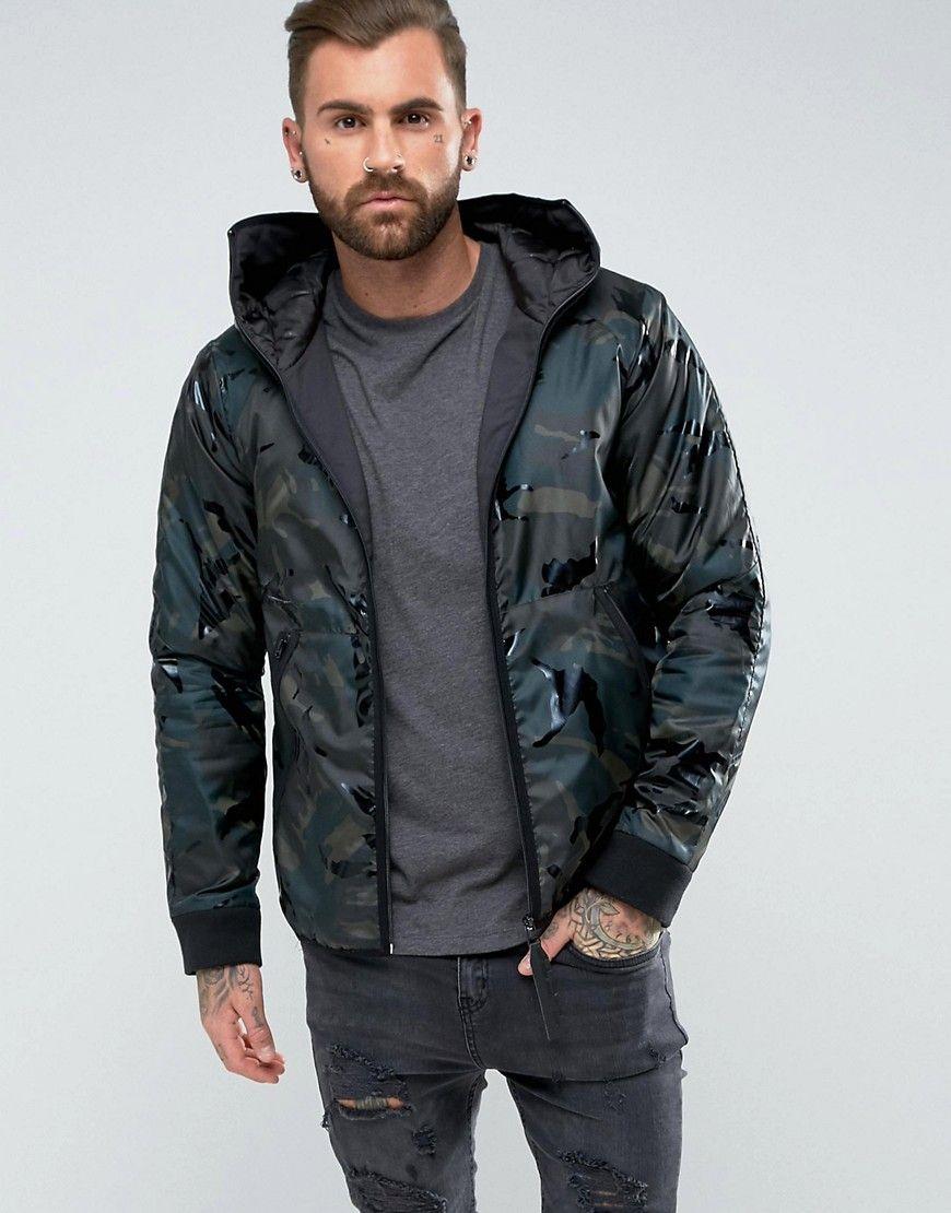 G Star Strett Padded HDD Overshirt Jacket Black | Mens