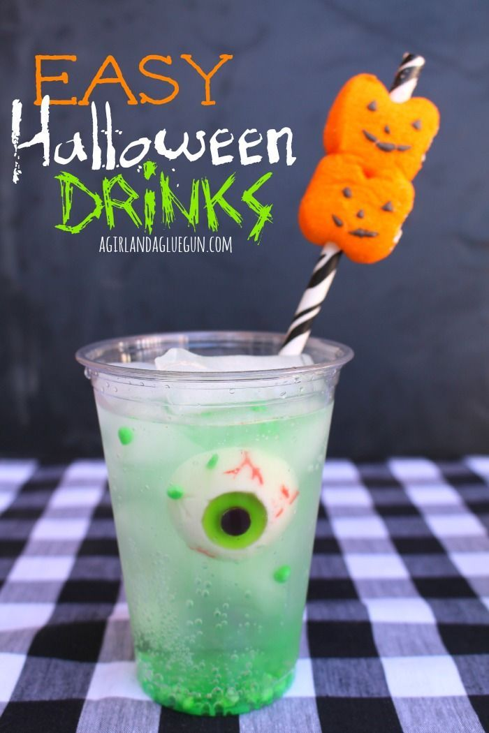 easy halloween drinks - Halloween Mixed Drink Ideas