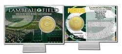 Green Bay Packers Bronze Coin Card - Stadium