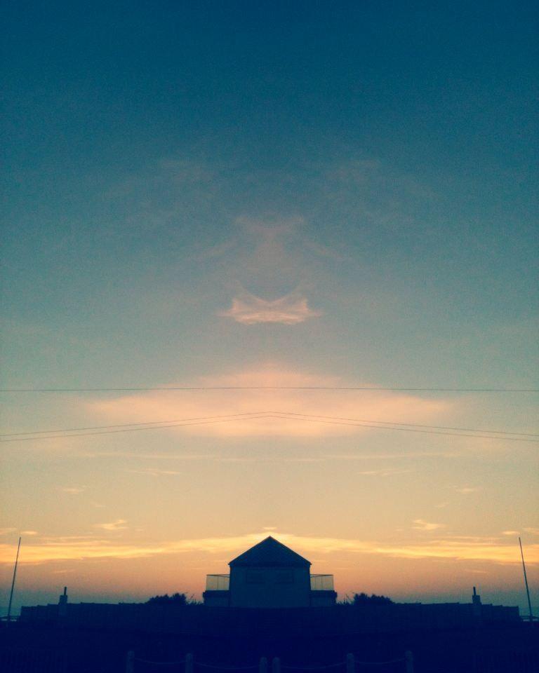 #LightCross #Mirrored #PicsArt #Edit #Sunset #BrackleshamBay #Chichester #WestSussex