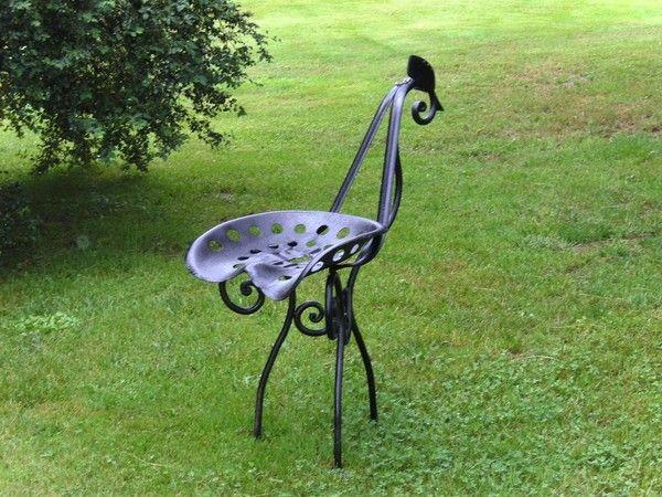 Image du blog deco pinterest vieux outils mobilier - Sculpture metal jardin ...