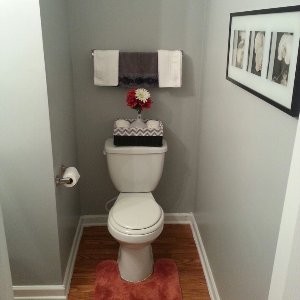 Bathroom paint ideas behr - My Grey Bathroom Revamp Spending Less Than 150 Behr Paint French Silver