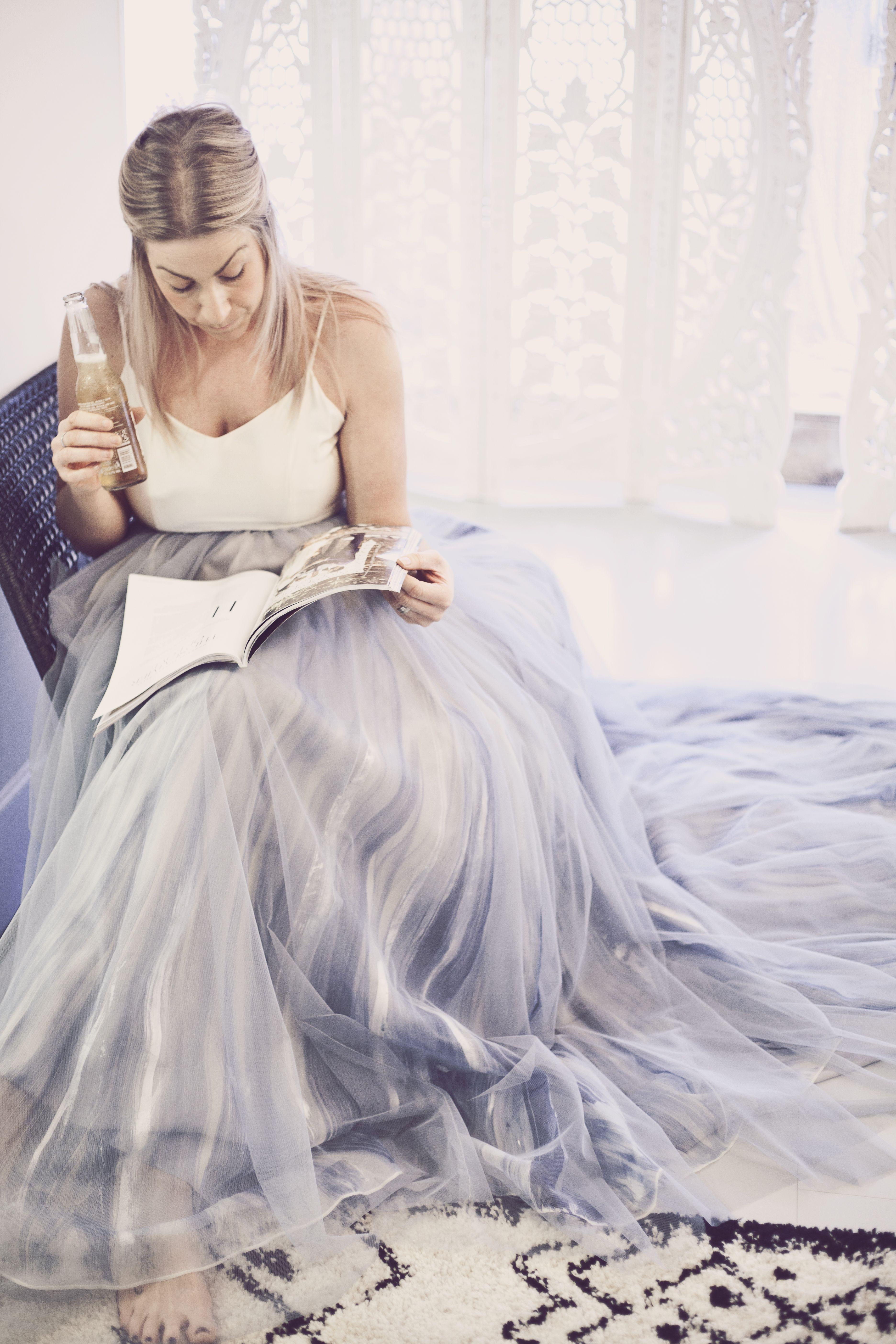 Dreamy blue steel Mae wedding dress by Chantel Lauren ...