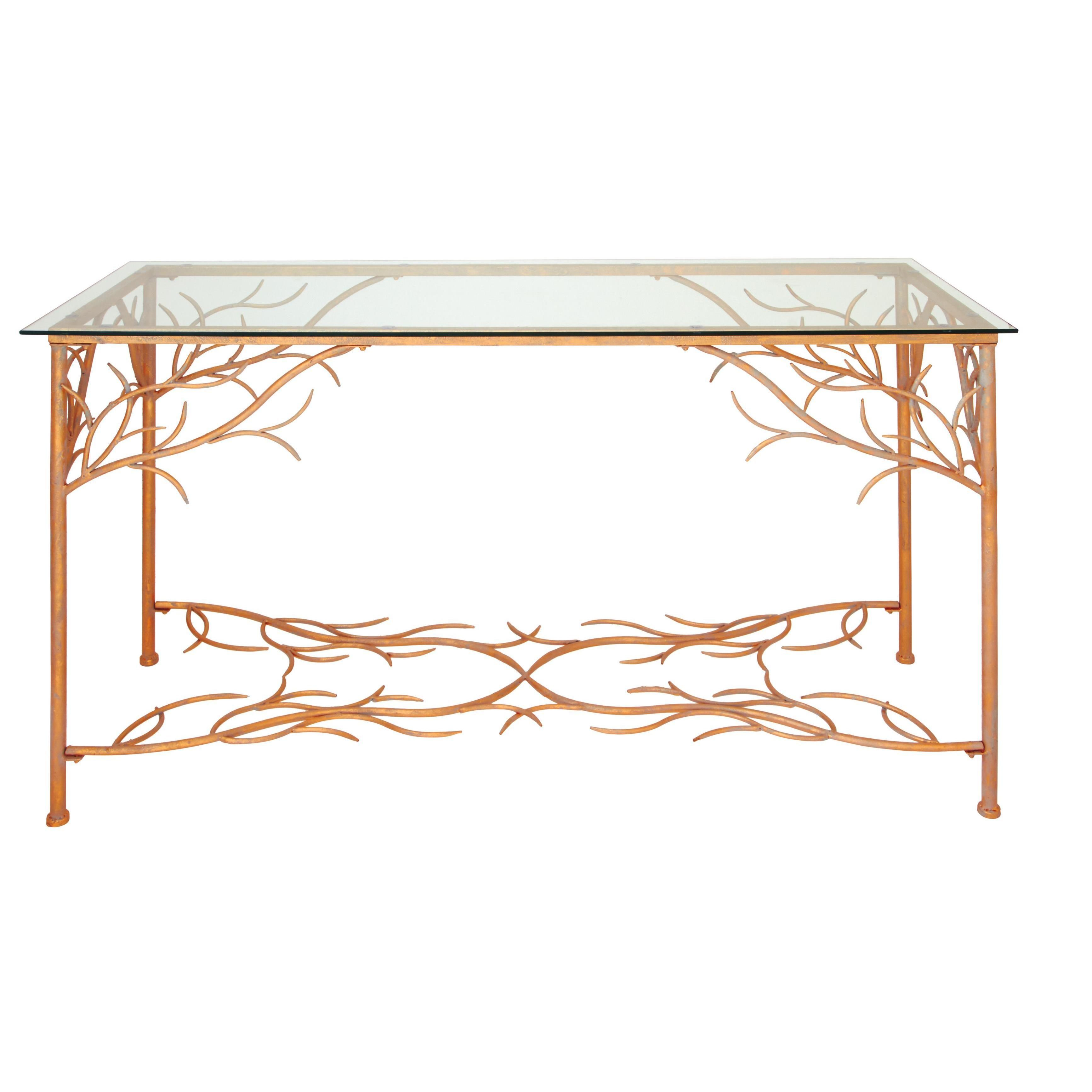 Sleek 54 Inch Wide X 32 High Metal Console Table