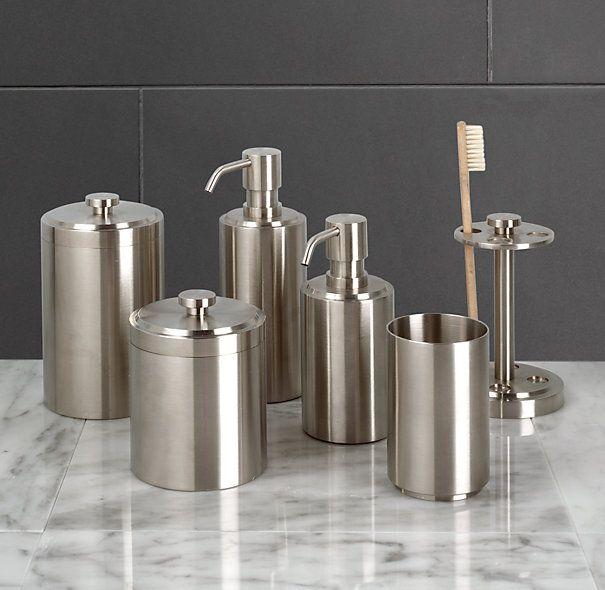 Spritz accessories from restoration hardware large small - Restoration hardware bathroom accessories ...