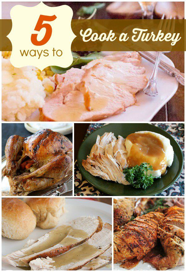 Thanksgiving Recipes | Hosting Thanksgiving this year? Check out links to five ways to cook a turkey - glazed, smoked, slow cooked, herb crusted... YUM!