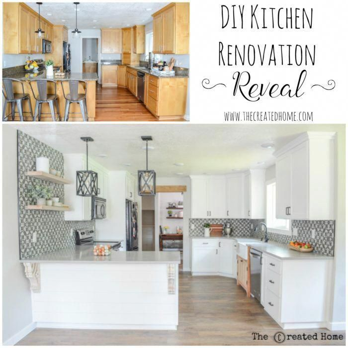 Kitchen Renovation Before And After, The Created Home - Kitchen Renovation On A Budget