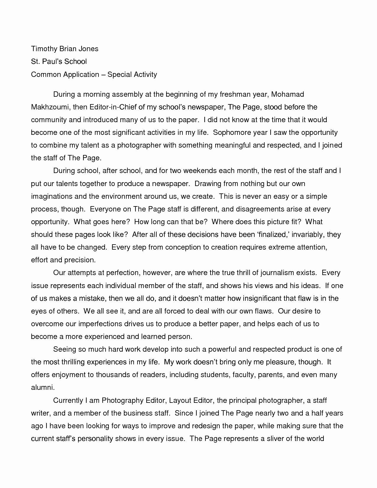 Example College Essay Topic Fresh Narrative Student Scholarship Examples