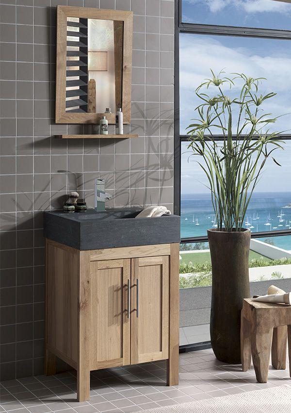salle de bains stone chne huil et pierre naturelle de chez cocktail scandinave mobilier dcoration dintrieur