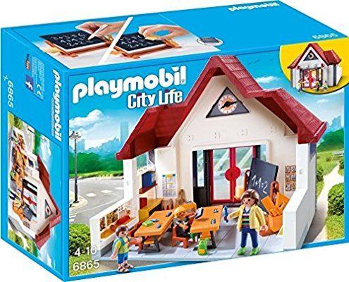 Playmobil - 6865 - Jeu - Ecole avec Salle de Classe   Kdo L ...