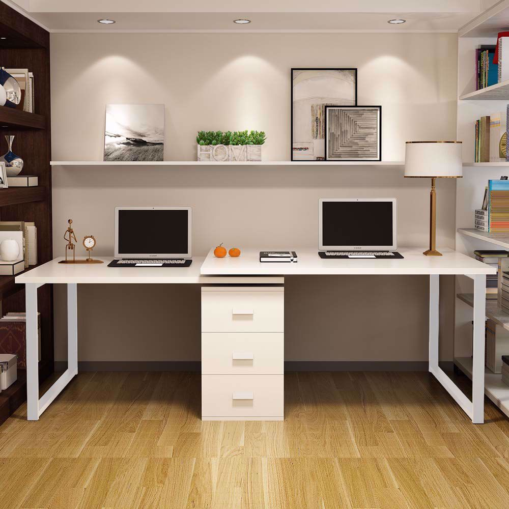 Modern L Shaped Computer Desk 360 Reversible Computer Desk In