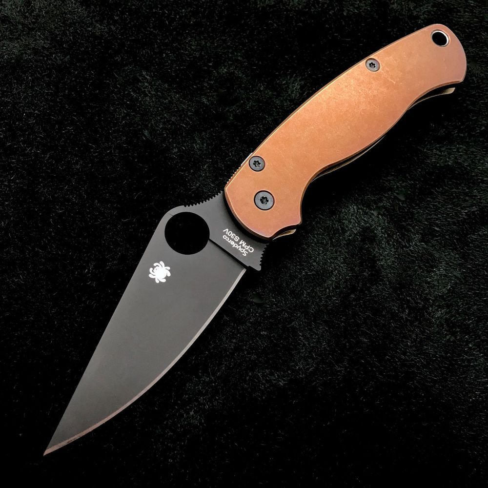 Details about Spyderco Paramilitary 2 C81GPBK2 w/ Dirty