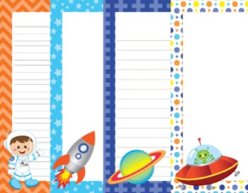 Outer space astronaut writing paper 3 designs 7 1 for Outer space paper
