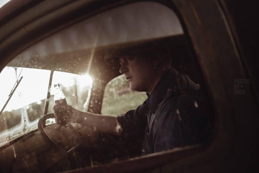 Coca Cola. Photo: Ryan Doco Connors. Model: Brad. #model #portrait #photography #doco #photosbydoco #emotive #cocacola #vintage #classic #truck