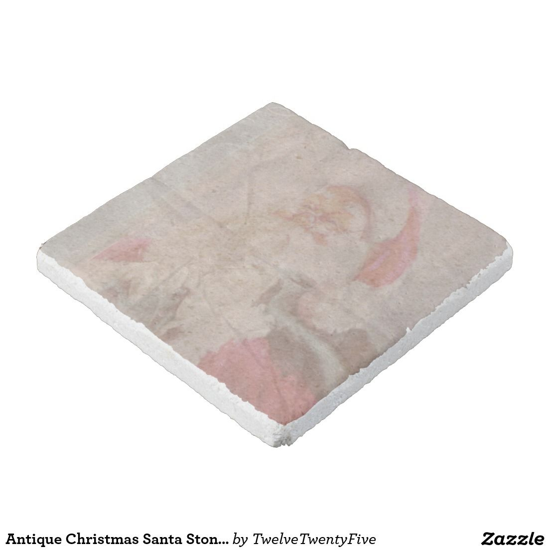 Antique Christmas Santa Stone Drink Coasters Stone Coaster