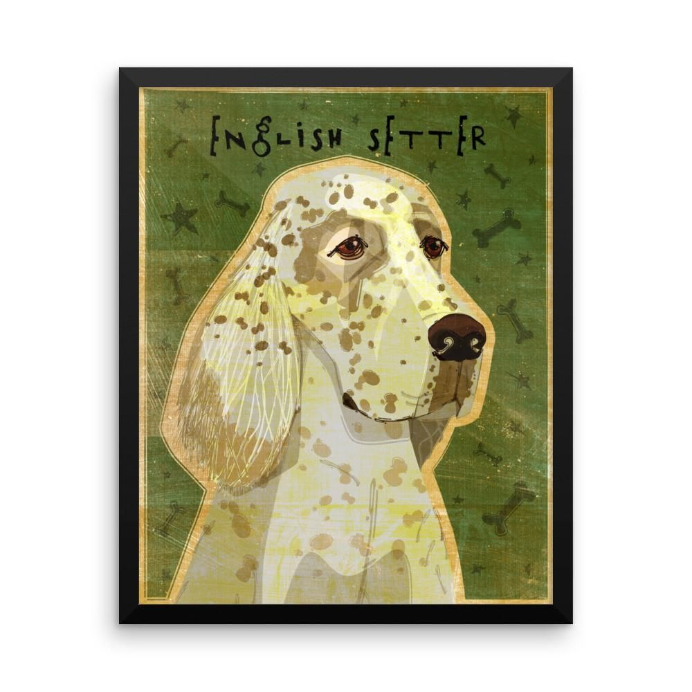 English Setter Framed poster | English setters and Products