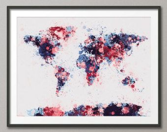 Paint splashes map of the world map canvas art print by artpause paint splashes map of the world map canvas art print by artpause gumiabroncs Gallery