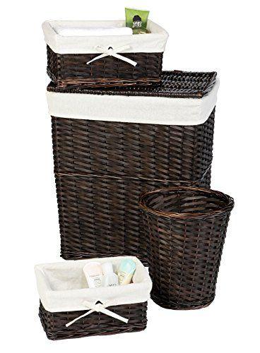 Wicker Laundry Hamper Set Lid Liner Storage Basket Wicker Hamper Wicker Laundry Hamper Lined Wicker Baskets