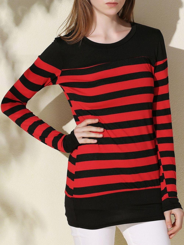 Long sleeve stripe tunic tee tunics autumn fashion and fall fashion