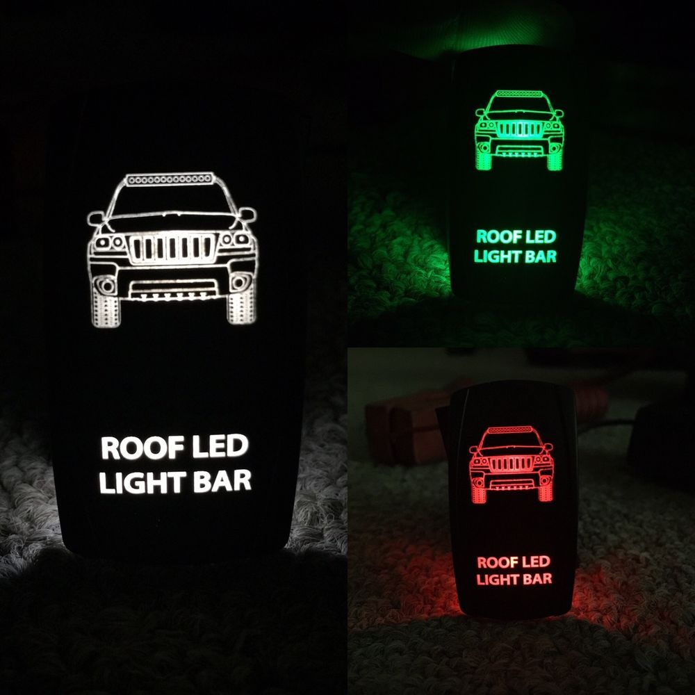 JEEP GRAND CHEROKEE Wj Switch Wrangler JK Custom Made for light bar ...