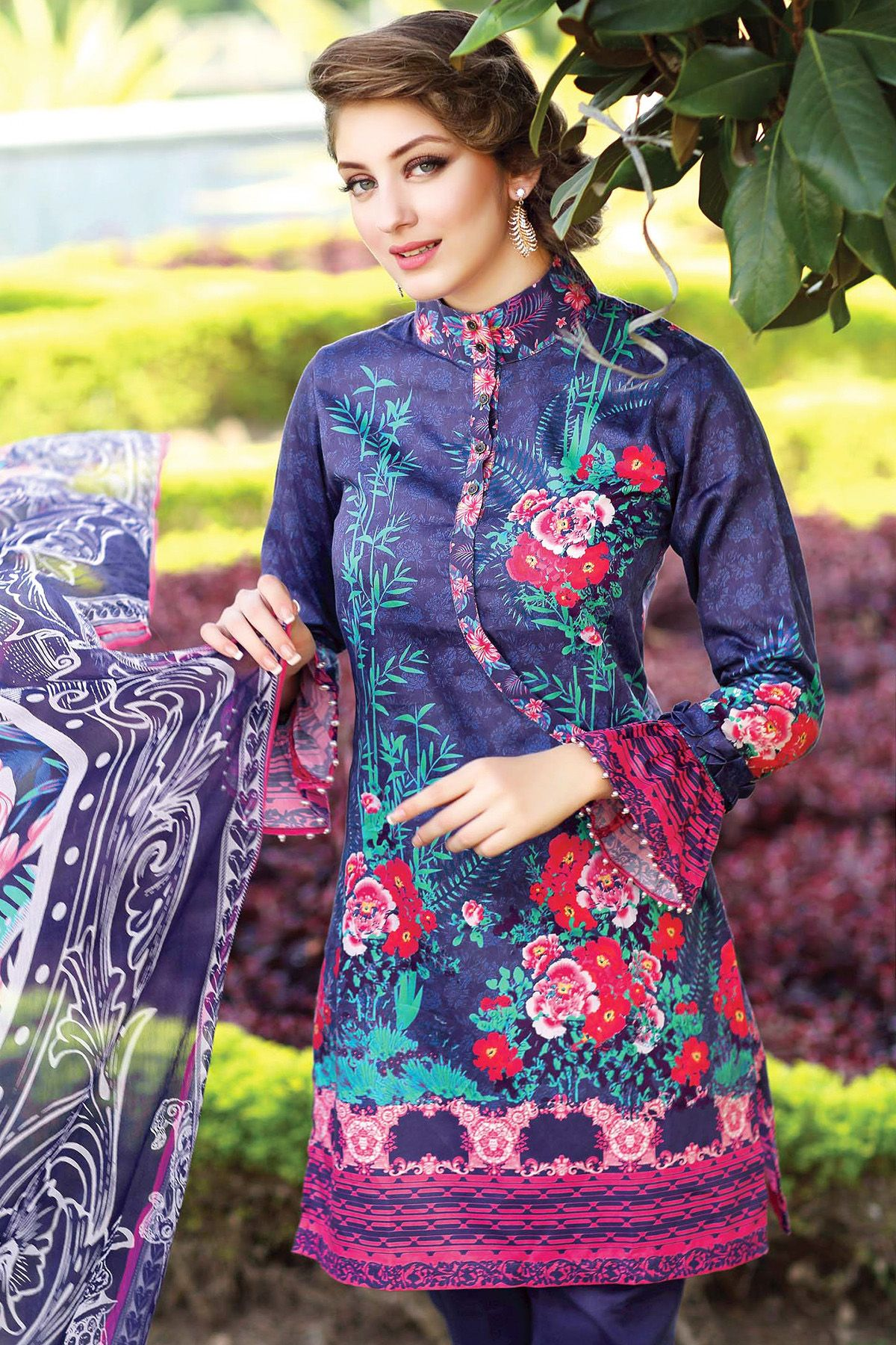 d8b19c046d56 Latest Stitching Styles Of Pakistani Dresses For Girls 2016-2017 ...