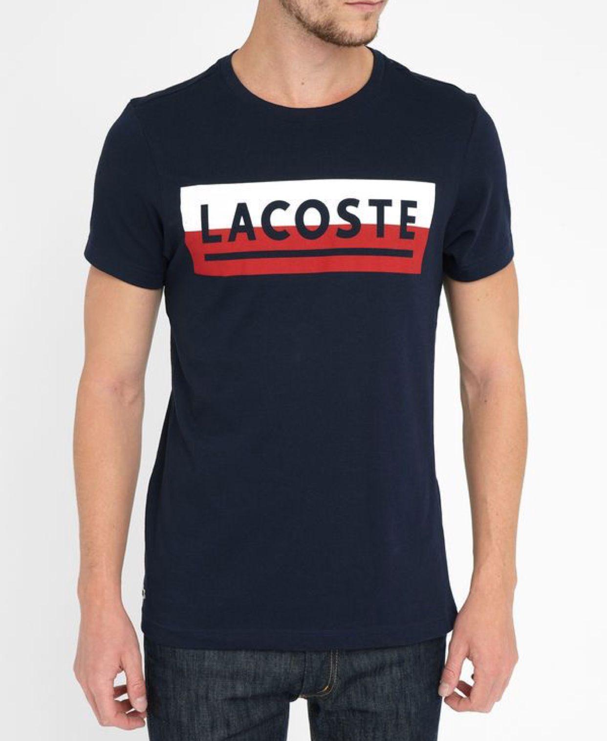 fd6d1c99336 Tshirt Lacoste original. Blue clássico