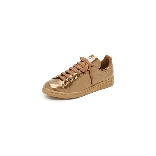 the best attitude 9c824 3942d Adidas Raf Simons Stan Smith Sneakers ( 400) ❤ liked on Polyvore featuring  shoes, sneakers, copper metallic, leather sneakers, perforated sneakers, ...