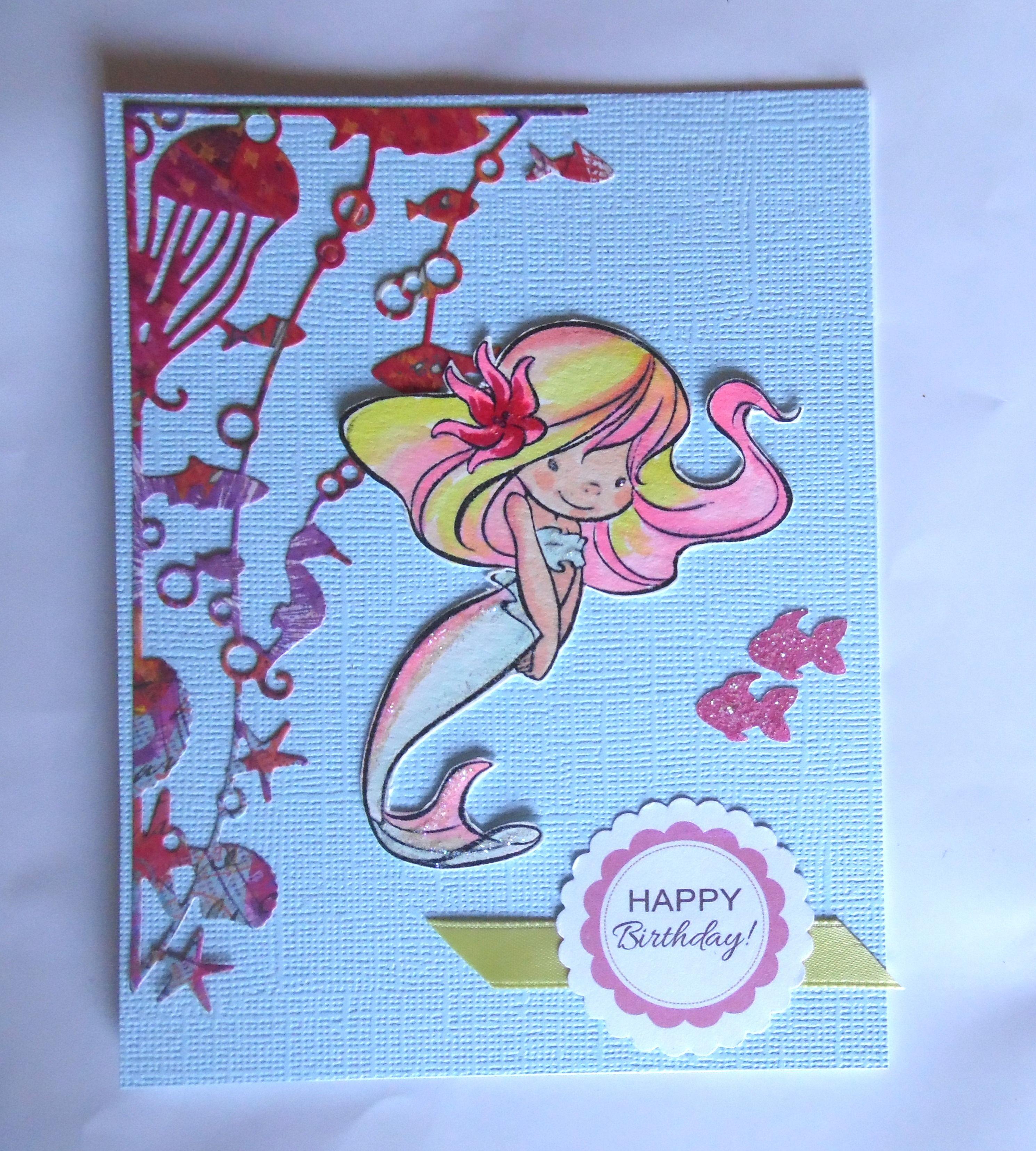 Mermaid Birthday Card Made With Memory Box Oceana Corner