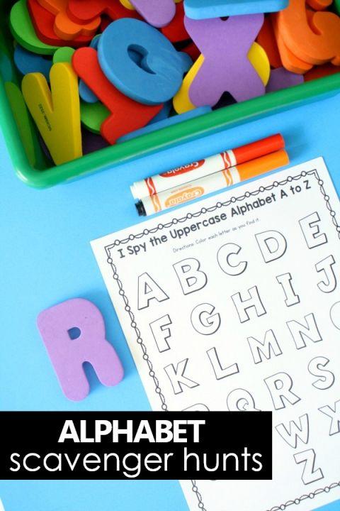 I Spy Scavenger Hunt ABC Games Alphabet Printables ...