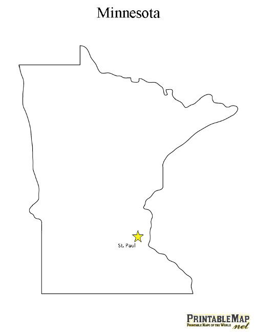 image relating to Printable Maps of Minnesota named Pin upon Social experiments