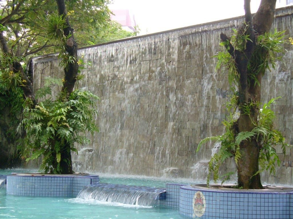 Waterfall Wall Water Swimming Pool Bathhouse Refreshment Badespass