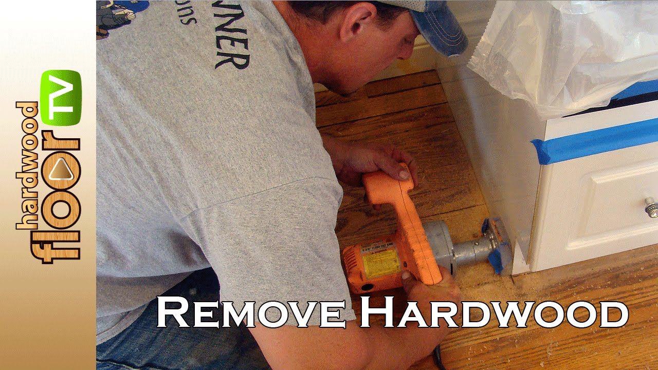 Remove Hardwood Floors Under Cabinets & Baseboards ...