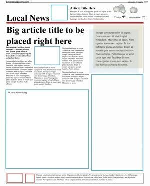 Newspaper Template Pack For Word Perfect School