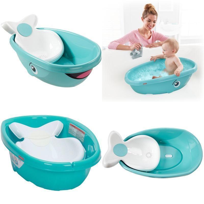 Whale Bath Tub Baby Kids Toddler Newborn Shower Safety Seat Bathtub White Baby Bath Tub Baby Bath New Baby Products