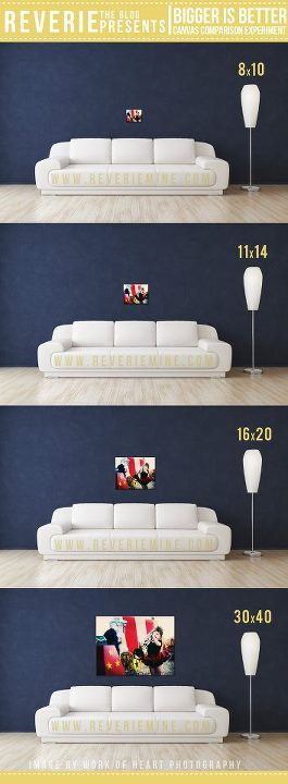 Canvas Size Comparison Photography Wall Inspiration Wall Portrait Wall
