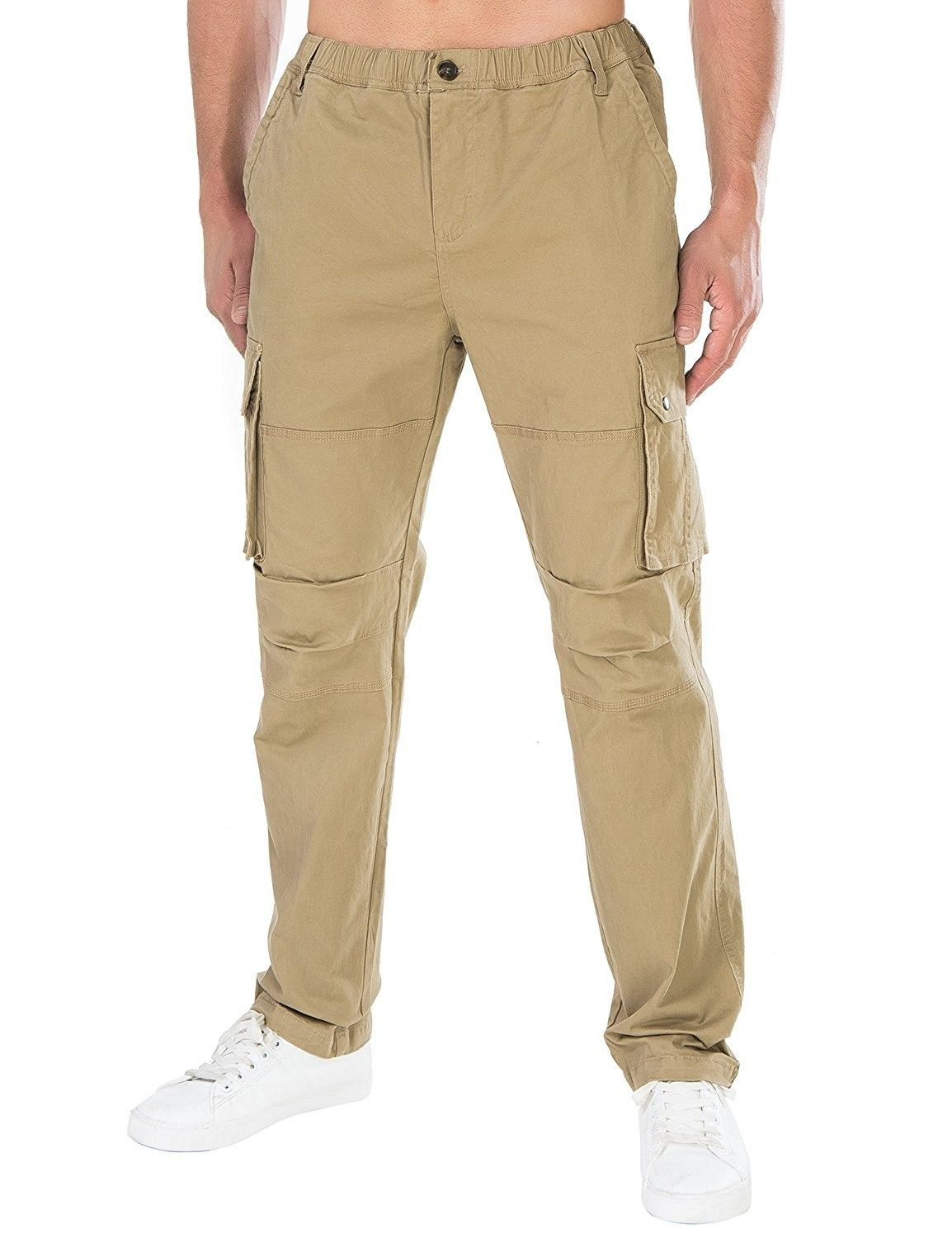 Pick SZ//Color. Lee Mens Sportswear Relaxed Fit Utility Belted Cargo Pants