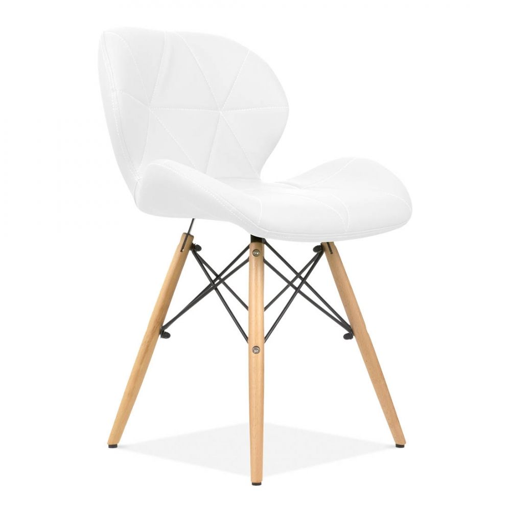 Eames Inspired Upholstered White Butterfly Dining Chair