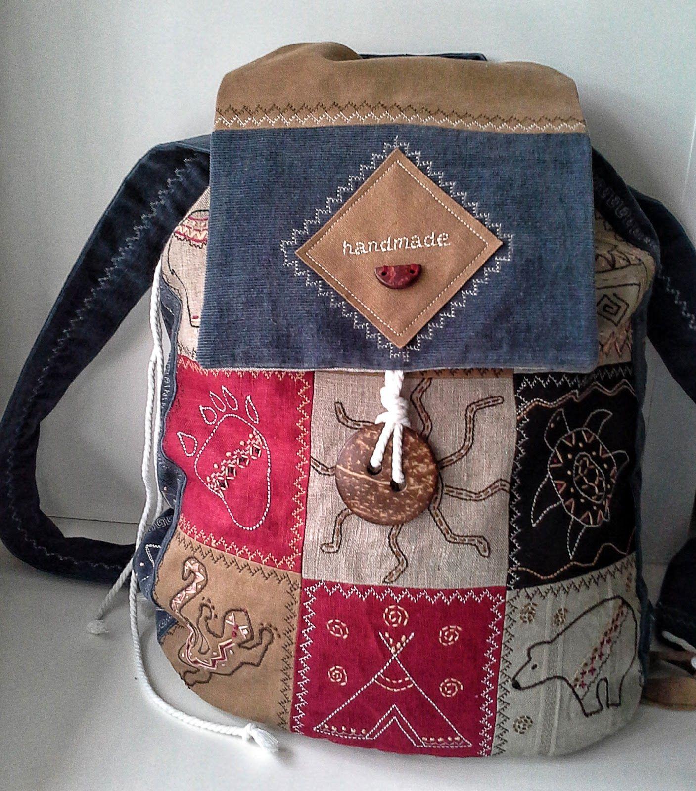 Третьяковская галерея. Handmade: Этно - бохо рюкзак- 3