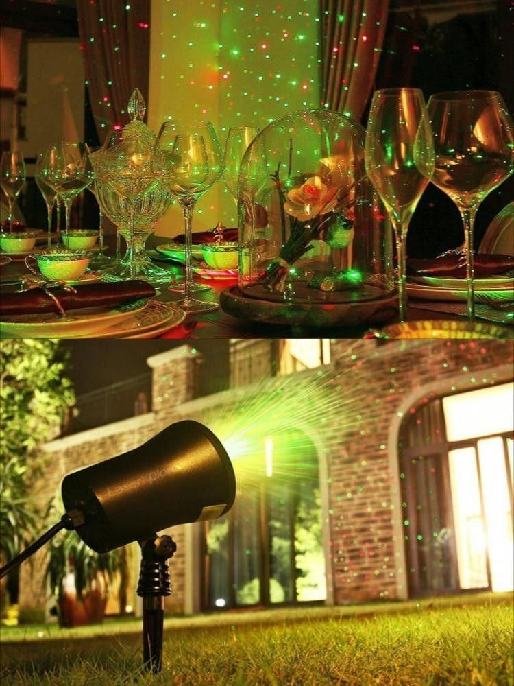 Outdoor Christmas Light Show Halloween Laser Projector Holiday Party