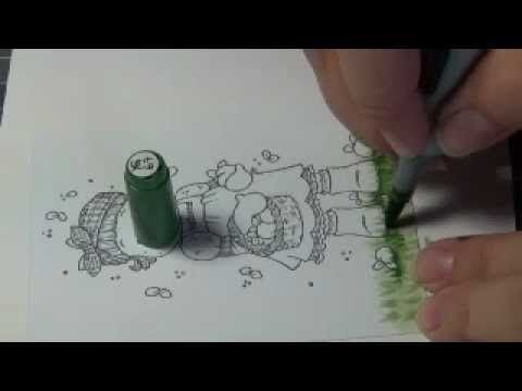 How to color ground with Copic - Part I Grass