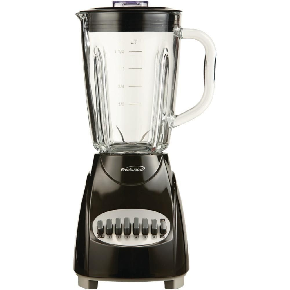 Brentwood 12speed Countertop Blender With Glass Jar