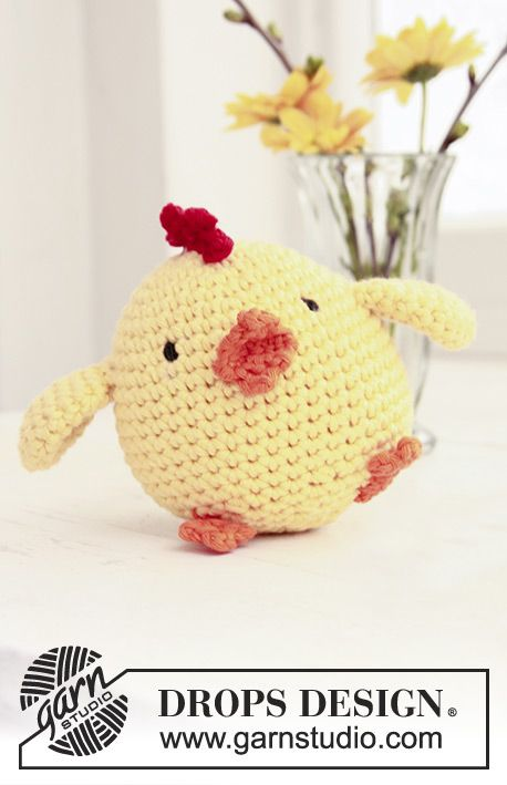 Chicken Little / DROPS Extra 0-769 - Crochet DROPS Easter chicken in ...