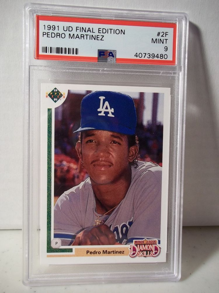1991 upper deck pedro martinez rookie psa mint 9 baseball