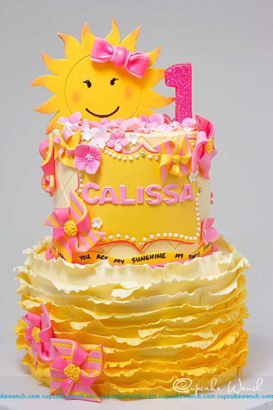 You Are My Sunshine Cake By Cupcake Wench Cakes For