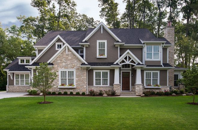 Dark Brown Home Exterior Paint Color Dark Brown Exterior With White
