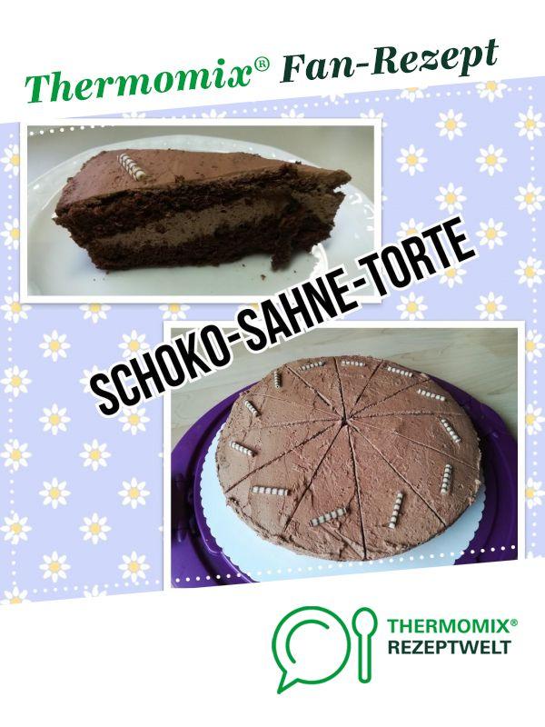 Schoko Sahne Torte Fur Kristin Rezept Mit Bildern Schoko Sahne Torte Schoko Kasekuchen Schokoladencreme Fur Torte