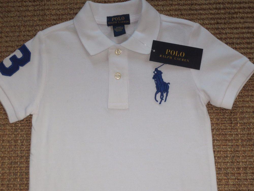 d29c101a9 Polo ralph lauren toddler boy size 4 4t big pony white polo shirt cotton  new | Polo ralph lauren, Toddler boys and Polo shirts