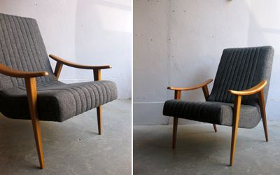 wooden frame easy-chair